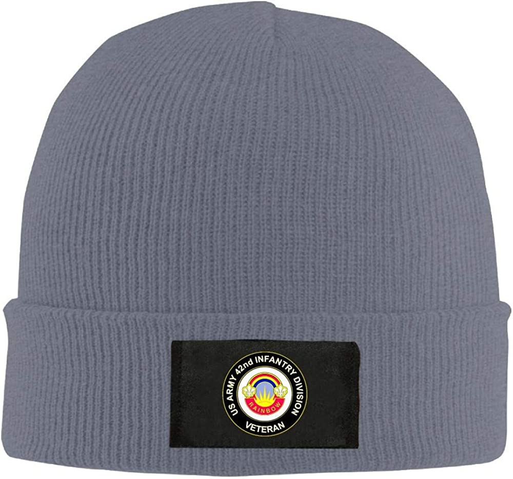 US Army 42nd Infantry Division Unit Crest Veteran Mens Beanie Cap Skull Cap Winter Warm Knitting Hats