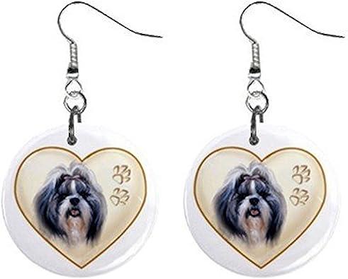 SHIH TZU DOG EARRINGS 1 PR
