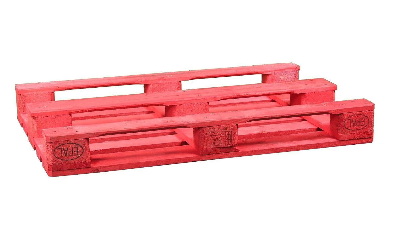 Palet Europalet homologado 120x80x14 cm diferentes colores (Rojo): Amazon.es: Hogar