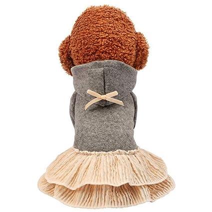 JINHONGH Ropa para Perros Mascota Primavera y otoño Vestido Pastel ...