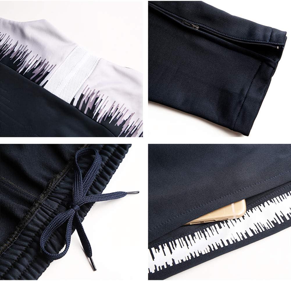 XunZhiYuan Maillot de Football Respirant et /à s/échage Rapide /à Manches Longues et Pantalons Team Wear Fitness Sportswear