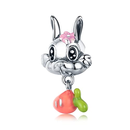 Rabbit Animal 925 Sterling Silver Charms European Beads for Snake Chain Bracelets Mother's Day Gifts Jewellery fSzr0Ca7