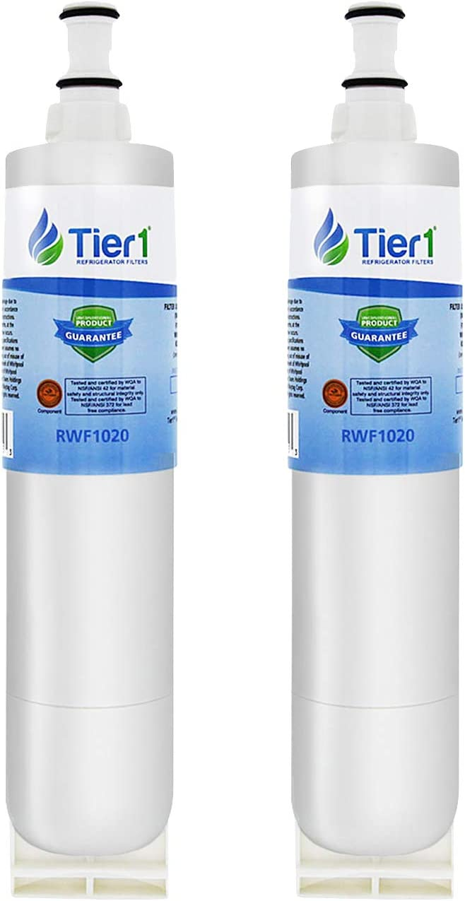 Tier1 Replacement for EDR5RXD1, 4396510, EveryDrop Filter 5, NLC240V, 4396547, PUR W10186668, Kenmore 46-9010 Refrigerator Water Filter 2 Pack