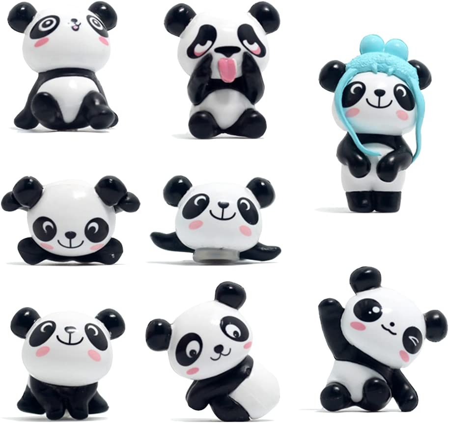 8 Pack Fridge Magnets Panda Refrigerator Office Magnets for Calendars Whiteboards Maps Resin Fun Decorative Decoration Upgrade