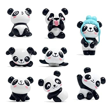 8 Pack Fridge Magnets Panda Refrigerator Office Magnets for Calendars Whiteboards Maps Resin Fun Decorative Decoration [Upgraded]