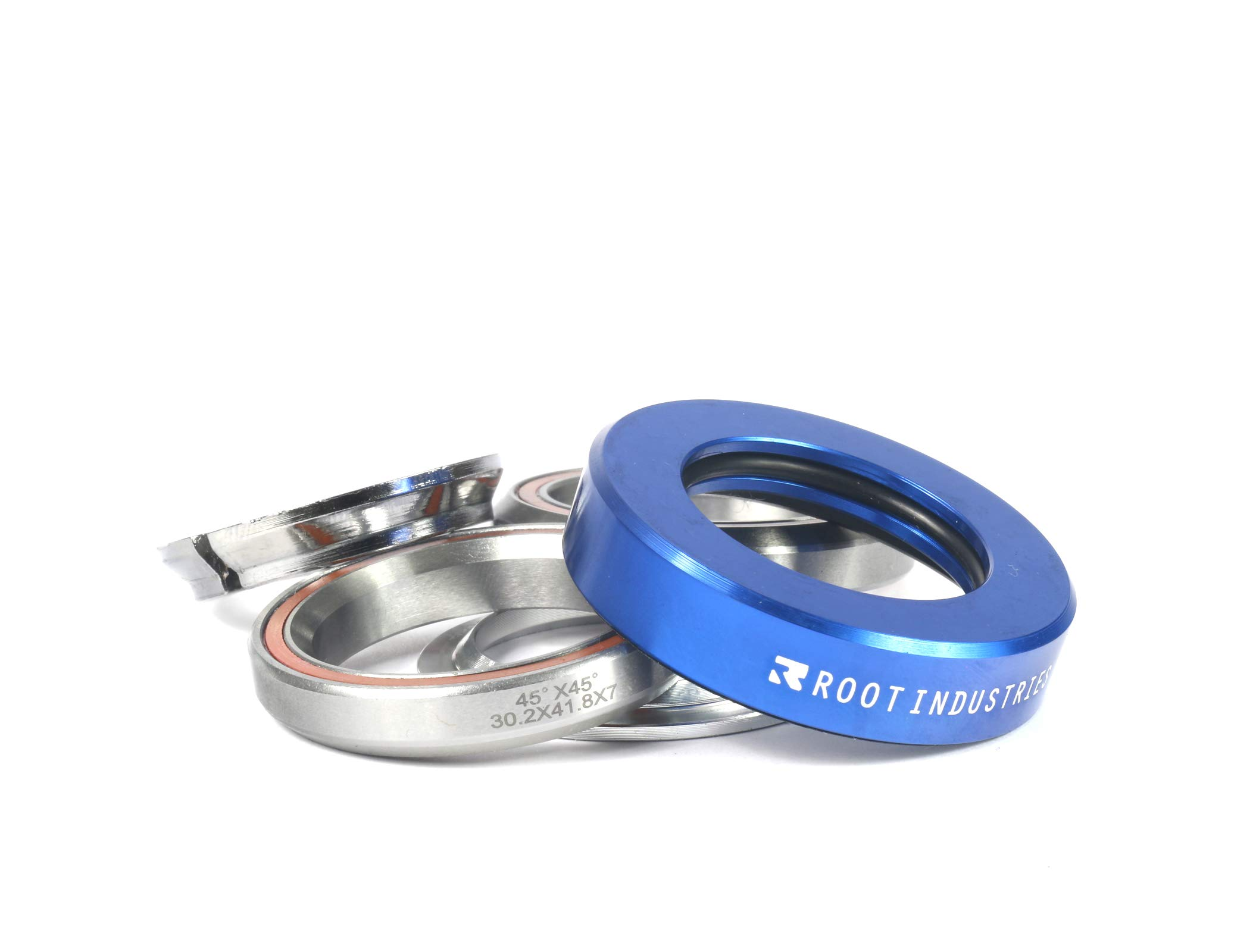 Root Industries AIR Headset - Trick/Stunt Scooter Headset - 1-⅛ Freestyle BMX/Scooter Professional Integrated Headset - Premium Color Options Sealed Fast (Blue)