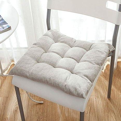 Amazon.com: Cojín de asiento grueso, cuadrado ...