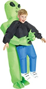 Morph Costumes - Kids Alien Pick Me Up Kids Inflatable Costume - Great Illusion Fancy Dress Outfit One size fits most Children upto 5ft