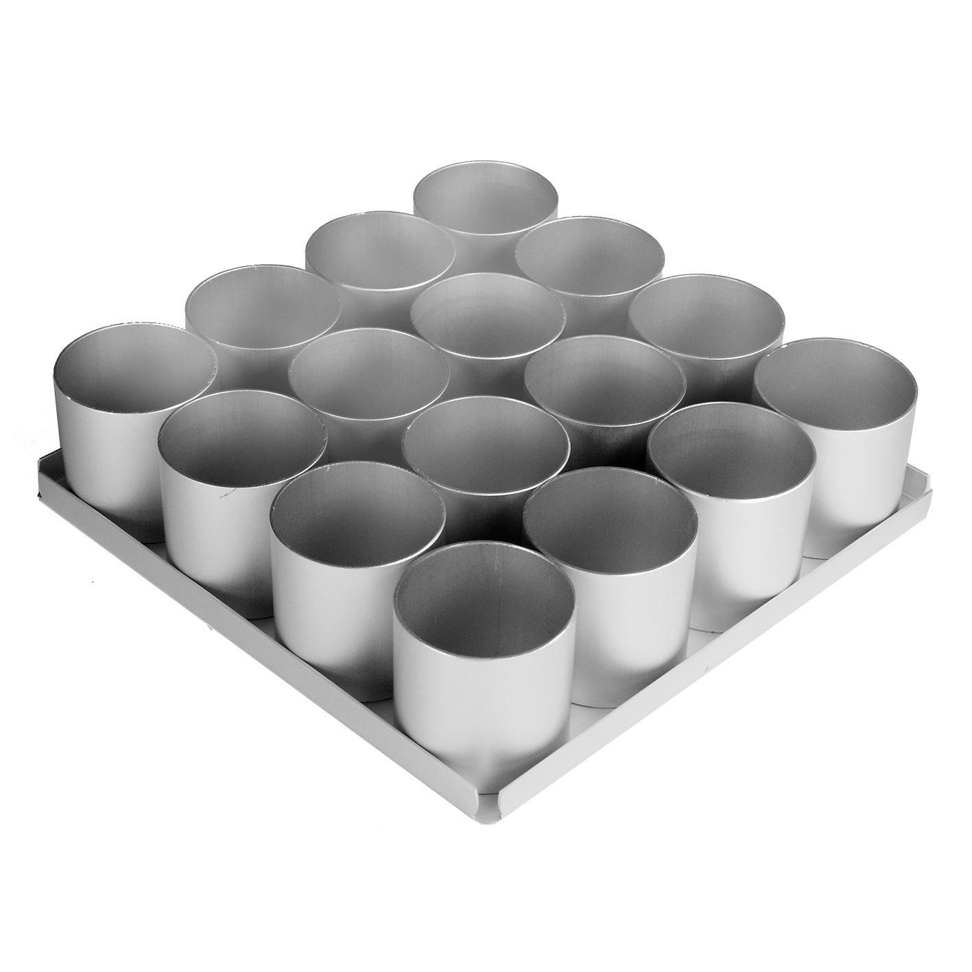 16pc 2'' Round Multi Mini Cake Pan Set (Pack of 4)