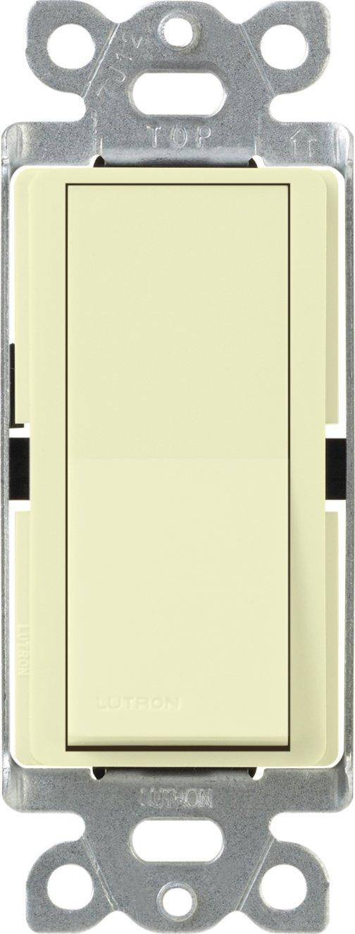 Lutron CA-1PSNL-AL Diva 15-Amp Single Pole Switch with Locator Light, Almond