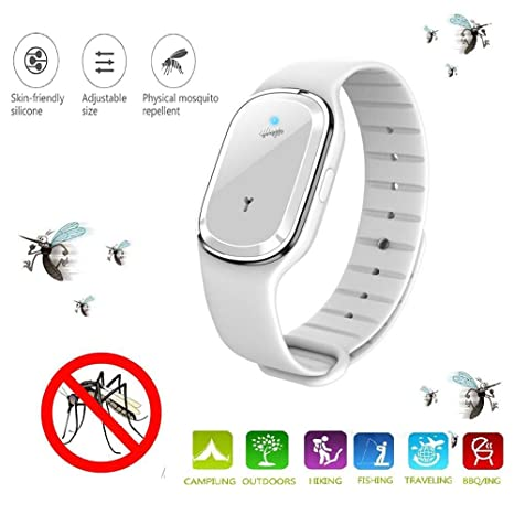 UK New Ultrasonic Smart USB Rechargeable Mosquito Repellent Bracelets Non-Toxic#