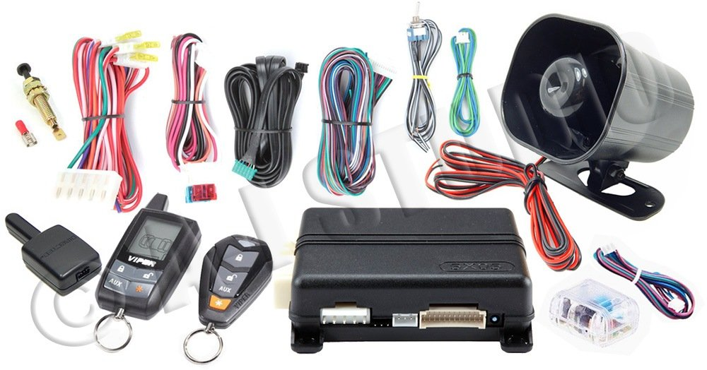 AUTOMATE 5305A 2 WAY LCD VEHICLE CAR ALARM KEYLESS ENTRY REMOTE START SYSTEM/FREE NUTEK HEADPHONES Viper 5704V