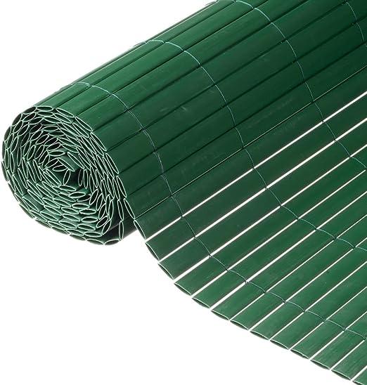 Nature Malla de ocultación de jardín 1x3 m PVC verde 6050335: Amazon.es: Jardín