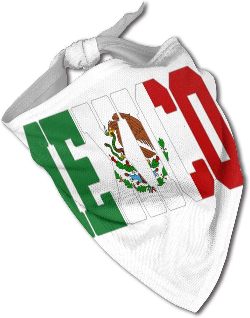 NHH México Carta Bandera Perro Bandana Collares Triángulo Pañuelo Baberos Bufandas Accesorios Mascotas Gatos y Cachorros Bebé Toalla Saliva