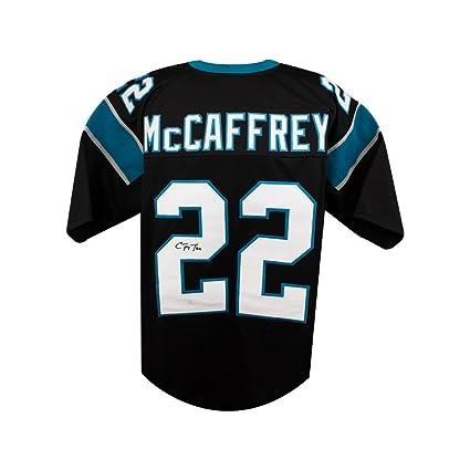 a1e6bdaea Image Unavailable. Image not available for. Color  Christian McCaffrey  Autograph Carolina Panthers Custom Black ...