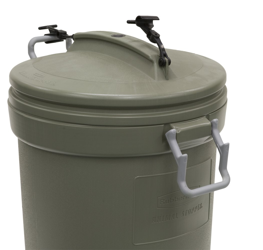 garbage cans tips you absolutely have to do. Amazon.com : Rubbermaid Animal Stopper Trash Can, 32 Gallon, Olive (RM5F8201) Lawn And Leaf Bags Garden \u0026 Outdoor Garbage Cans Tips You Absolutely Have To Do