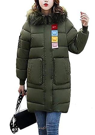 Femme Quilting Blouson Automne Hiver Oversize Doudoune Mode Élégant Jacken  Vintage Festive Gaine A Capuche Manches 9038287c4d5