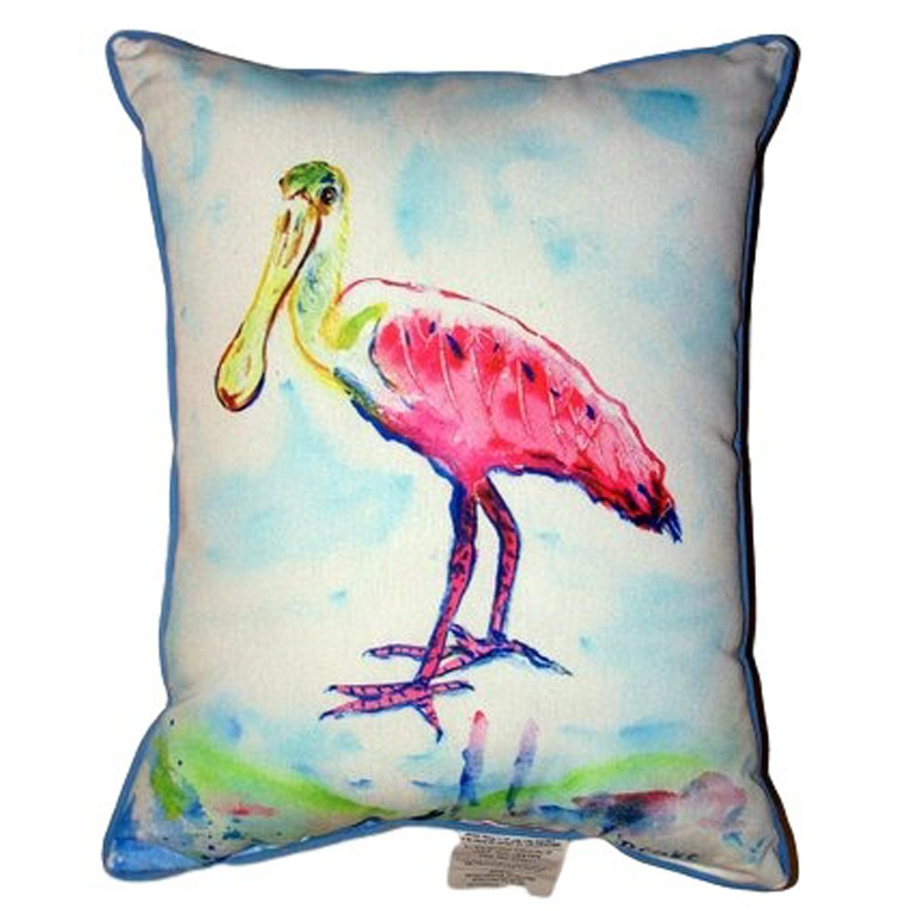 Betsy Drake ZP530 Betsy's Pink Spoonbill Zippered Pillow 20' x24'