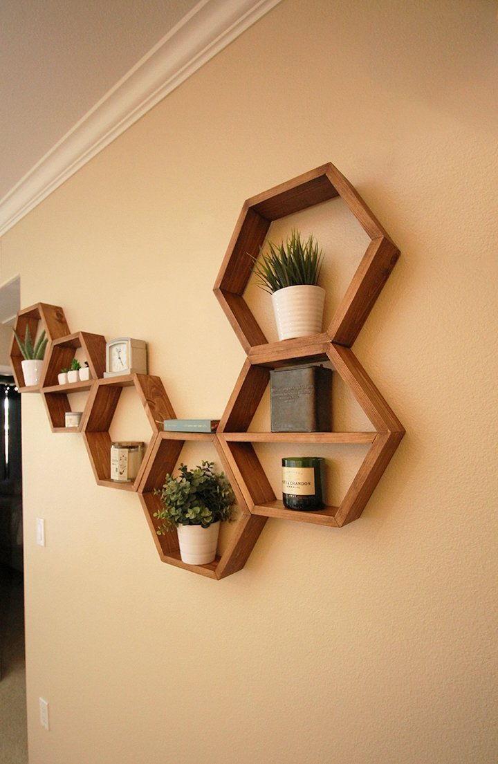 hexagon honeycomb bookshelf shelves diy watch youtube