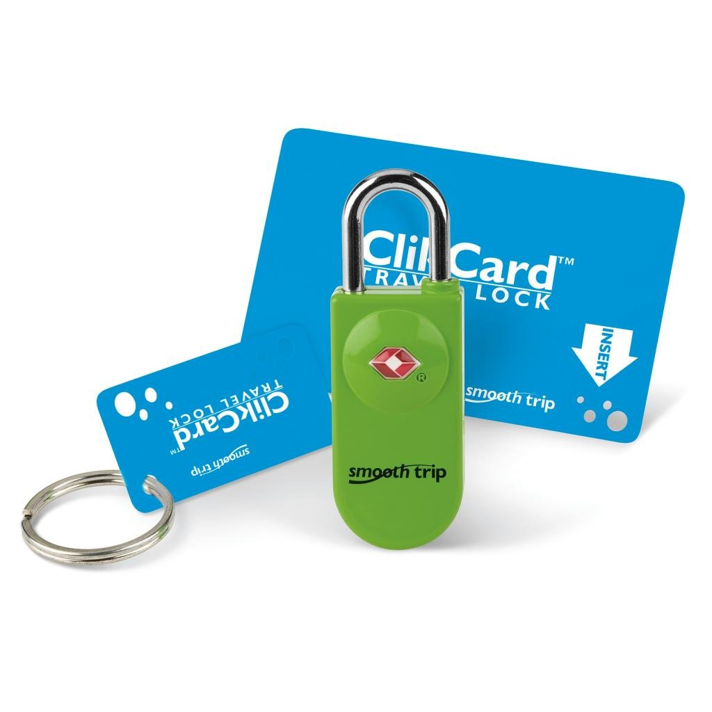 Smooth Trip ClikCard TSA Approved Luggage Lock (Neon Green)