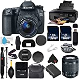 6Ave Canon EOS 70D DSLR Camera with 18-55mm f/3.5-5.6 STM Lens International Version (No Warranty) + Epson SureColor P600 Inkjet Printer + 16GB & 32GB SDHC Class 10 Memory Card + Carrying Case Bundle