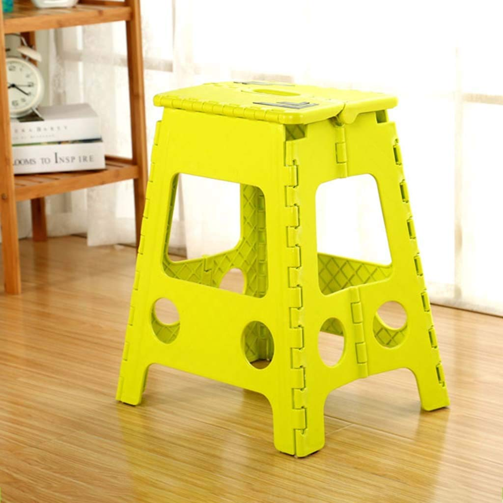color : Blue KKCD-Stools Waterproof Folding Step Stool Dining Table And Chairs Portable Outdoor Folding Stools Home Thickening Adult Plastic High Stool Large 45CM