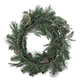 24in Wreath W/ Berries and Pinecones Mixed (Pack of 3)
