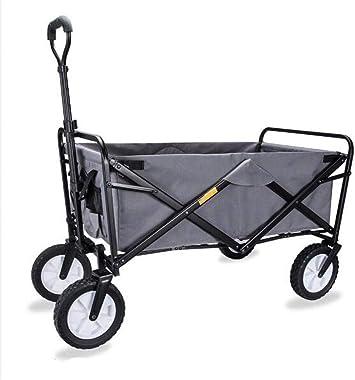 ROYWY Carretillas de Mano Carro Plegable con Frenos para Jardín, Carrito Transportador Apto para Todo Tipo de Fondos, Carga 80kg a/G:Gray: Amazon.es: Bricolaje y herramientas