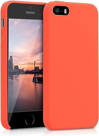Kwmobile Hülle Kompatibel Mit Apple Iphone Se 1 Gen 2016 5 5s Handyhülle Gummiert Handy Case In Neon Orange Elektronik