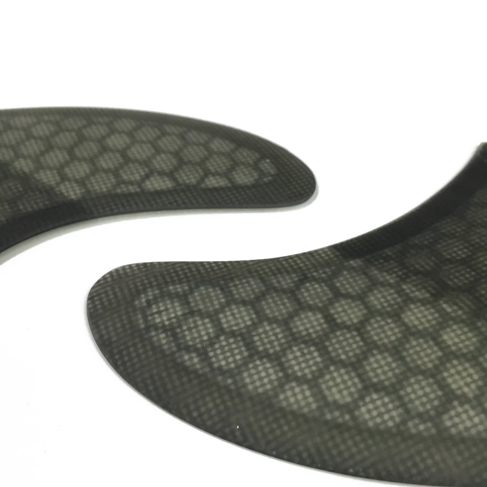 UPSURF Surfboard FCS Fins K2.1 Honeycomb+Fiberglass Surfboard Fins Thruster FCS Style 5 Fins