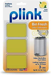 Plink Bin Fresh Odor Eliminators, Fresh Lemon Scent, for Garbage Bins & More, Lasting Freshness up to 30 Days, 3-Count