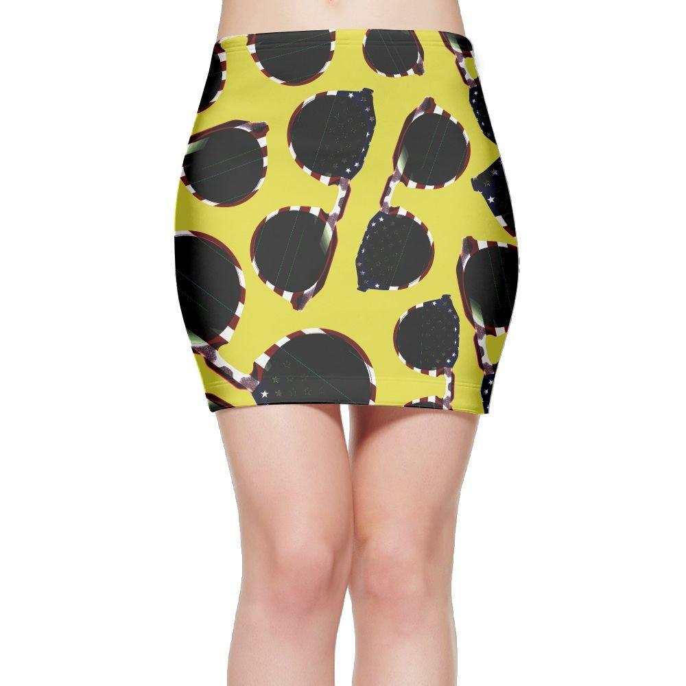 DLdse Merica Sunglasses Women Mini Skirts Bodycon Slim Casual Skirts