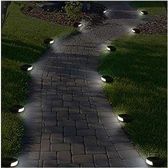 Pkfinrd Exterior Impermeable LED jardín Solar Piedra Luces luz ...