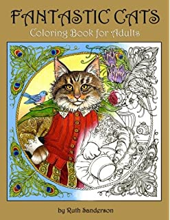 Fantastic Cats Coloring Book For Adults