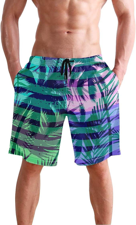 Mens Beach Shorts Animal Design Leopard Camouflage Swimming Pants Sportwear