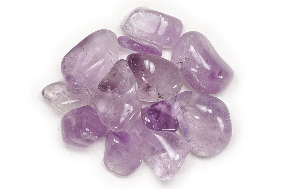 Hypnotic Gems Materials: 11 lbs Amethyst Tumbled Stones ''AA'' Grade from Brazil - Bulk Natural Polished Gemstone Supplies for Wicca, Reiki, and Energy Crystal HealingWholesale Lot