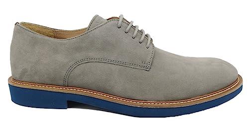 FRAU 35A1 Roccia Grigio Blu Scarpe Uomo Eleganti Casual Lacci camoscio   Amazon.it  Scarpe e borse ebe635c2a3d