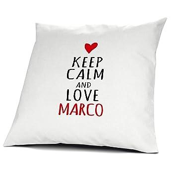printplanet Cojín con Nombre Marco - Diseño Keep Calm, 40 ...
