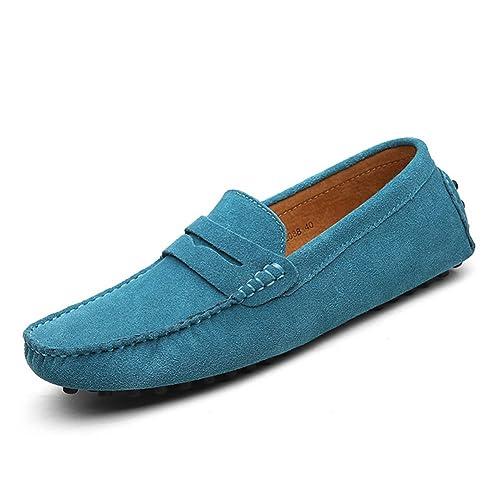 XiaoYouYu Loafers, Basses homme - Bleu ciel - EU 38
