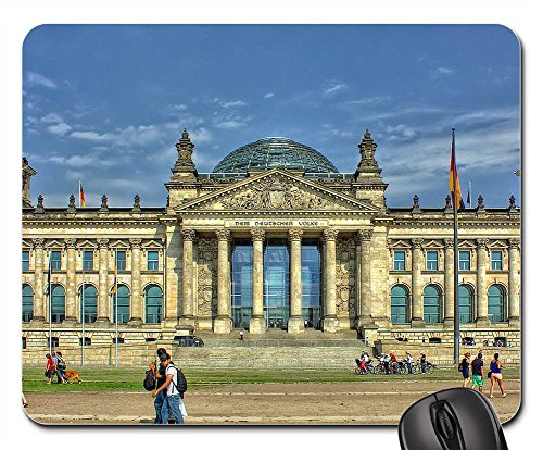 Mouse Pads - Berlin Reichstag Government Glass Dome Building