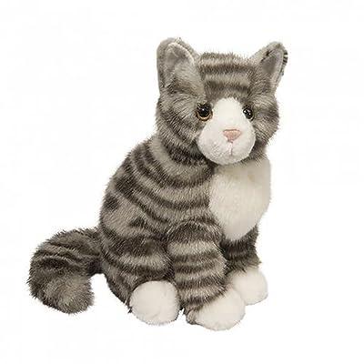 Douglas Nickel Gray Stripe Cat Plush Stuffed Animal: Toys & Games