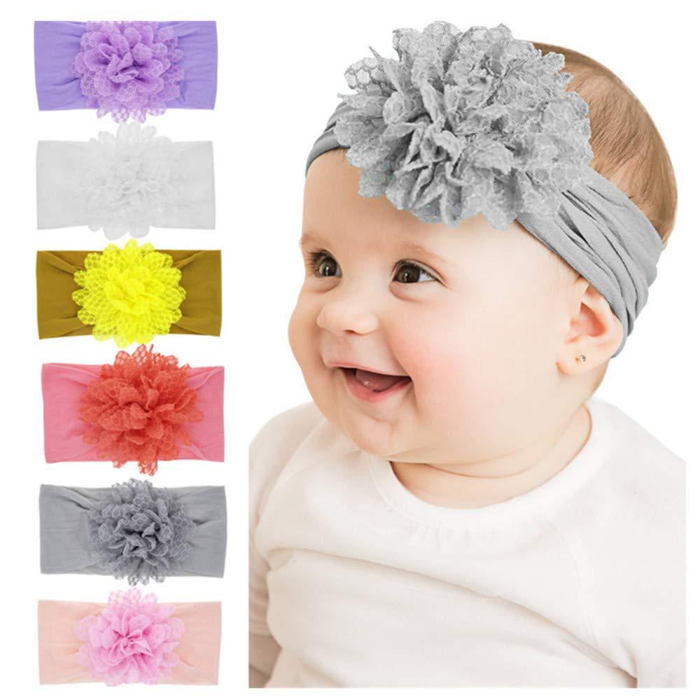 Freesiom Lot de 8 Bandeau B/éb/é Fille Cheveux Lapin Oreille Kawaii Elastique Hairband Enfant Serre T/ête Accessoires Naissance Bapt/ême No/ël