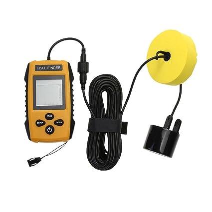 MKChung Detector de peces con cable, portátil, doble ultrasonido, buscador de peces sonar