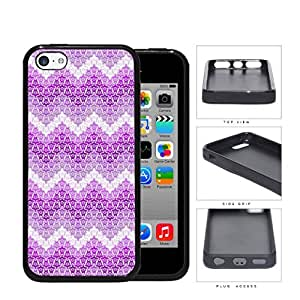 Mini Turtles In Chevron Pattern Pink Rubber Silicone TPU Cell Phone Case Apple iPhone 5c