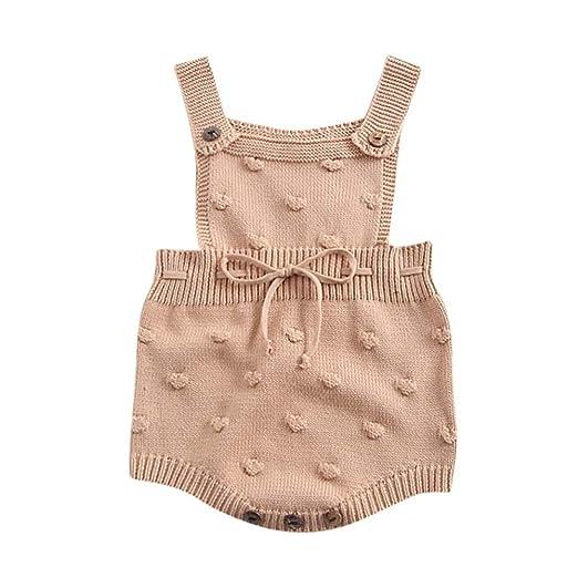 a056b1079 Amazon.com  Tronet Baby Knit Romper Infant Newborn Baby Boy Girl ...