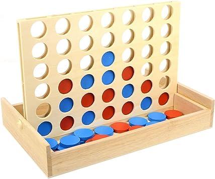 NUOBESTY Juego de 4 Juegos de Madera en Fila 4 Juegos de Mesa de ...