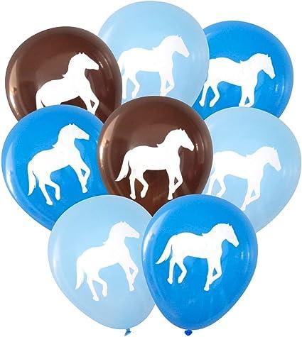 Amazon.com: Nerdy Words Horse Latex Balloons, 16 pcs (Blues & Dark ...