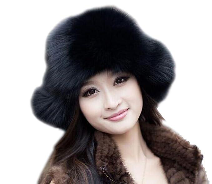 f0463655278 Modelshow Women s Girls Winter Russian Cossack Faux Fur Snow Trapper Hat  Ushanka Hat with Ear Flap