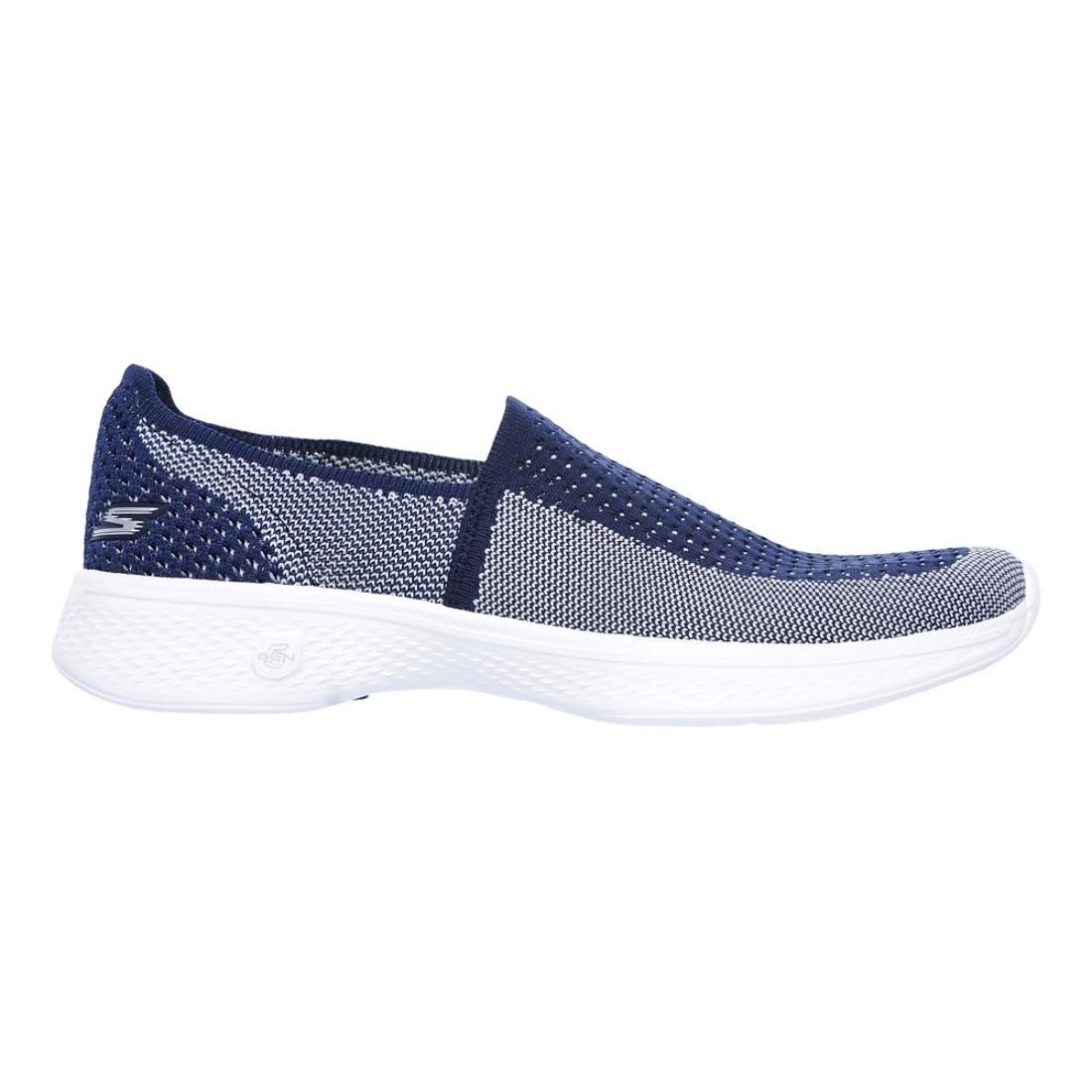 Skechers Womens/Ladies Go Walk 4 Ravish Lightweight Breathable Shoes 41 EU|Azul Marino/Blanco