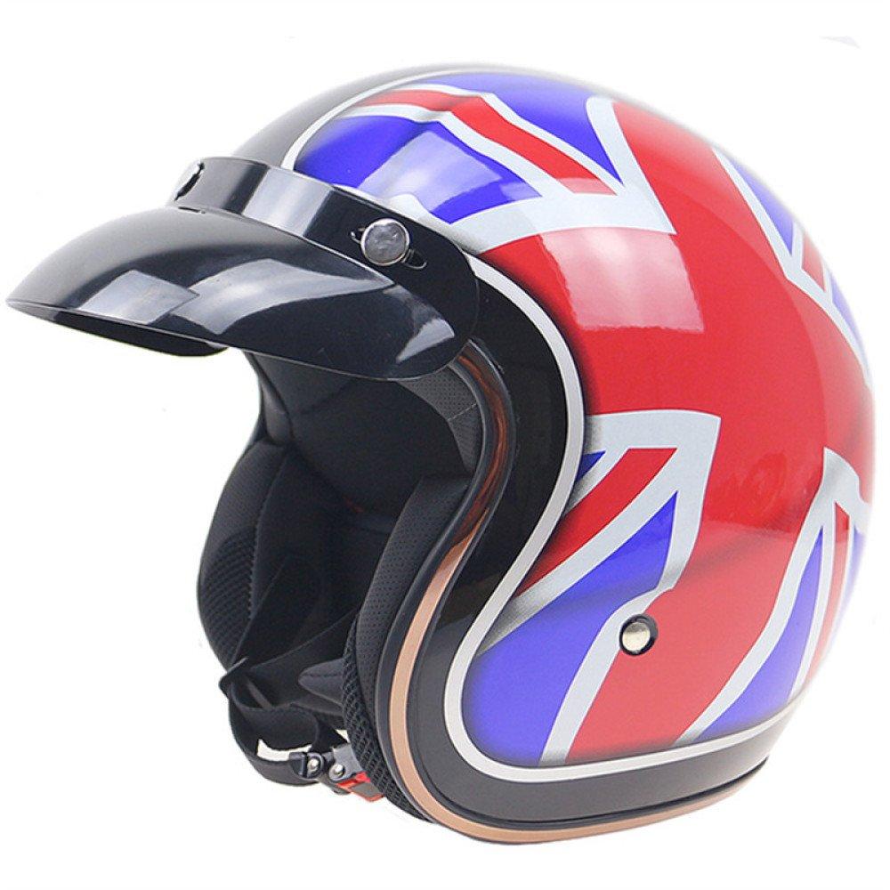 TZQ Unisex-Skihelm - ABS Material Helm Harley Motorradhelm Geeignet Für Motorrad-Off-Road-Fahrzeuge Universal Season